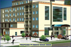 Proposed TV/Radio House, Abuja. Approach View